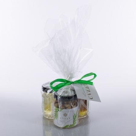 Poklon pakovanje tri teglice meda